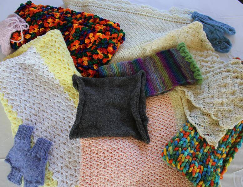 Samples from a knitting retreat