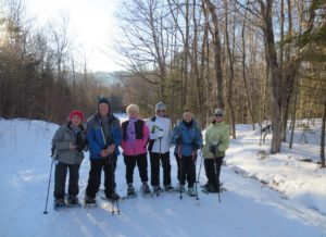 Group of snowshoers on nearby Crosstown Trail