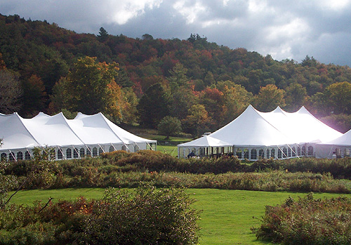 tents at the Vermont Wine & Harvest Festival