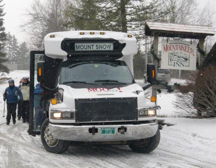 The shuttle bus to Mount Snow - the MOOver